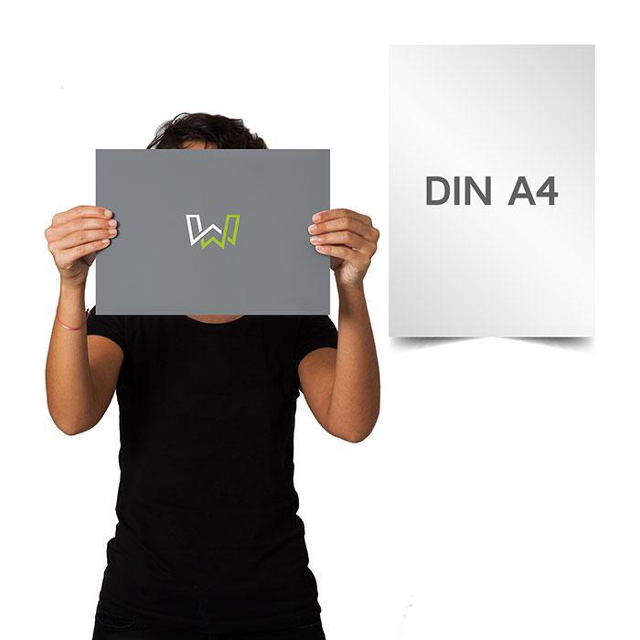 Plakate DIN A4 - Offsetdruck & Digitaldruck ein-o