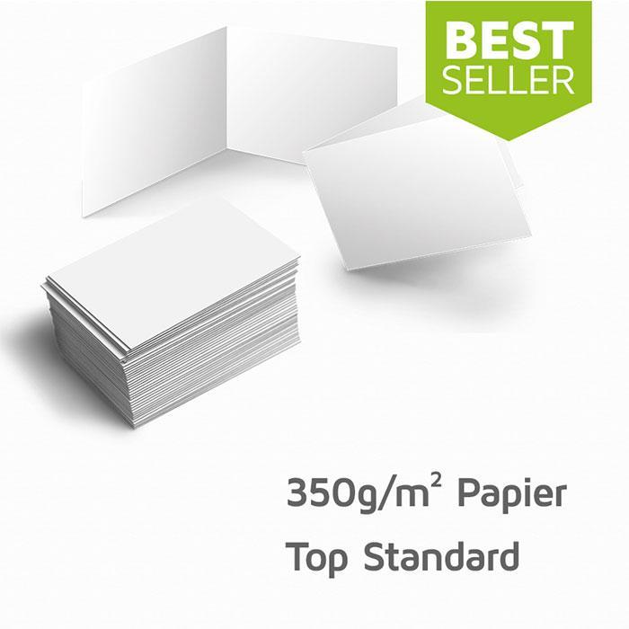 Visitenkarten 350g M Papier Hochwertiger Qualitätsdruck Matt Auch Als 4seitige Klappkarte Möglich