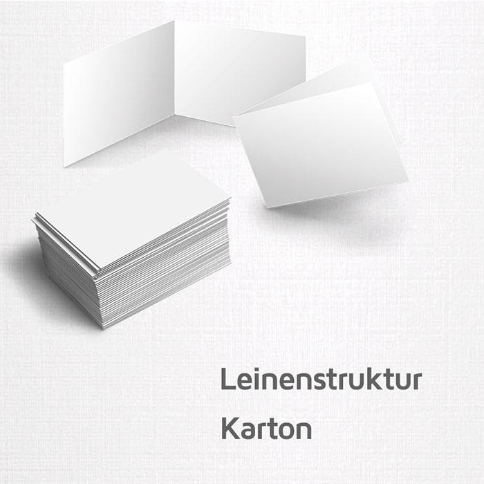 Visitenkarten 246g M Leinenstruktur Karton Auch Als 4seitige Klappkarte Möglich