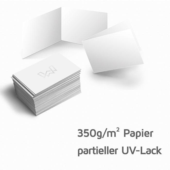 Visitenkarten 350g M Papier Mit Partiellem Uv Lack Spotlack Auch Als 4seitige Klappkarte Möglich