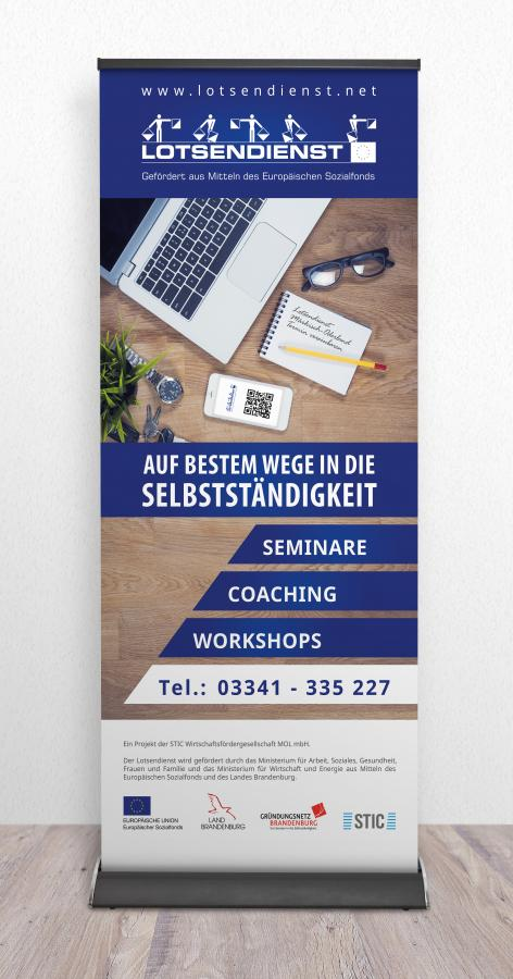 Roll-Up- Banner Lotsendienst