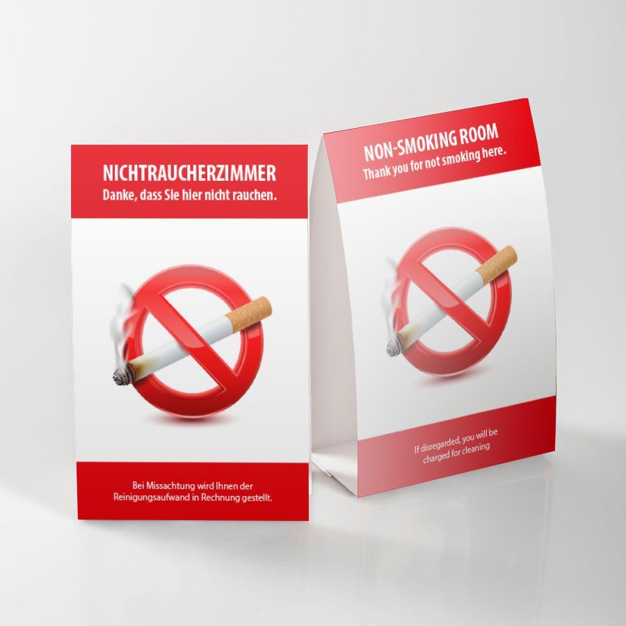 Nicht Rauchen Aufkleber Verboten Rauchverbot Nichtraucher 5cm transparent Glas