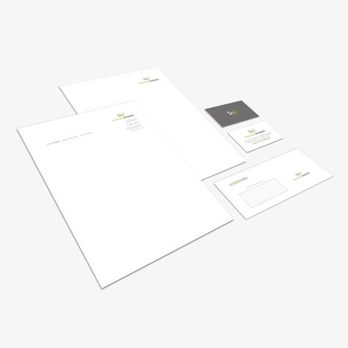 Geschäftspost - Briefpapier, Umschläge, Visitenkarten